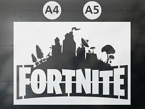 Fortnite A5 Stencil Mylar 190 Micron Reusable