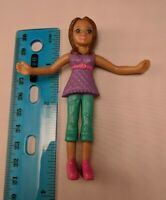 Mattel Polly Pocket 2008 Happy Meal McDonald's Doll Shani Purple/Aqua/Pink