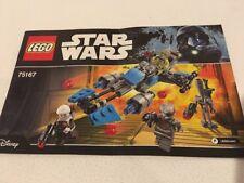 Star Wars Lego 75167 Bounty Hunter Speeder - Instructions Only