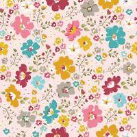 Wonderland Pink Flowers Riley Blake Fabric FQ More Nature 100/% Cotton Craft