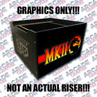 Arcade1up Cabinet Riser Mortal Kombat 2 II Graphic Sticker Decal Only