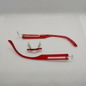 Switch it Brillengestell Wechselbügel + Brücke rot transparent Combi 202 125