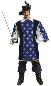 Musketeer Designer Collection Fancy Dress Adult Halloween Costume - Large Size