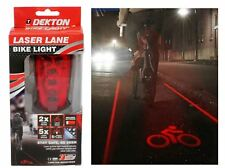 LASER LED Dekton visibilità posteriore bici Lane Luce sicurezza bicicletta ciclo di proiezione