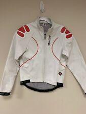 Cycling Jacket Made In Italy ! Windstopper Red White Road Santini Medium M