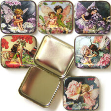 More details for flower fairies pocket tin box floral accessory gift jewellery storage trinket