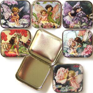 FLOWER FAIRIES POCKET TIN BOX Floral Accessory Gift Jewellery Storage Trinket
