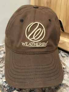 Brown Canvas Embroidered Weatherby Hat  New!  Worldwide ship-Christmas