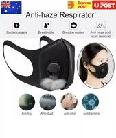 Melbourne Stock Valve Pollution Face Mask Respirator Reusable Washable Mask AUS