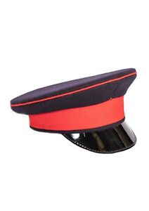 British Army Royal Hat Cap Black Red Peaked Dress Military Uniform REME MOD UK