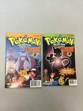 Pokemon Comics The First Movie #2 & #4 Mewtwo Strikes Back VIZ Manga 1998 (PM04)