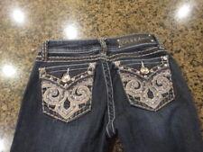 L. A. Idol Boot Jeans blue denim W 27 x L 34 women's 1 juniors bling sparkle