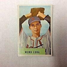 1954 BOWMAN #222 MEMO LUNA - SET BREAK - NICE CARD