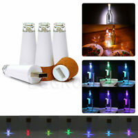 Cork Shaped Rechargeable USB LED Bottle Light Lamp Wine Bottle LED Night Lights