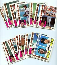 1984 Topps San Francisco Giants Complete 28 Card Team Set Frank Robinson Chili D