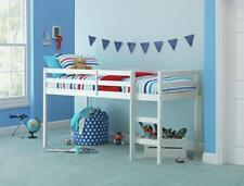 HOME Kaycie Wooden Mid Sleeper Single Bed Frame - White