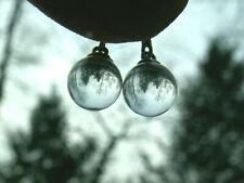 ..Sterling Silver, 8.1mm Rock Crystal Quartz Pool Of Light Ball Pierced Earrings