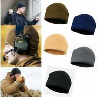 Men's Military Style Warm Polar Fleece Skiing Hat Tactical Beanie Watch Cap