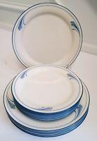 Lenox Blue Brushstrokes 12 Dinner Plates & Salad Plates