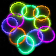 "100 8"" Glow Stick Bracelets Toy Party Favor Glowsticks"