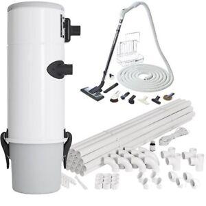 Zentralstaubsauganlage Komplett-Set, 653W Airwatt, Zentralstaubsauger-Paket