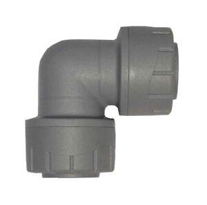 Polyplumb 15mm Equal Elbows PB115 (10 Pack) Push Fit Plastic - Brand New