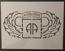 "U.S. US 82nd 82 Airborne Wings 11"" x 8.5"" Custom Stencil FAST FREE SHIPPING"