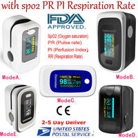 OLED Fingertip Pulse Oximeter Heart Rate Monitor+SPO2 PR PI Respiration FDA CE U
