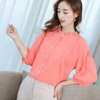 Women Chiffon Summer Top Loose T-Shirt Ladies Long Sleeve Fashion Shirt Blouse