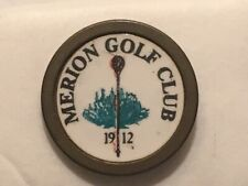 "Vintage Rare Very Early Merion Golf Club 3/4"" Brass Stem Golf Marker - A Beauty!"
