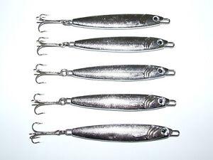 5 x FFT 20 30 40 60g Silver Stinger Spinner lure Mackerel Bass Cod Mackerel