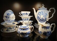 Service à café en porcelaine décor bleu Rheinpfalz Hartporzella  Germany