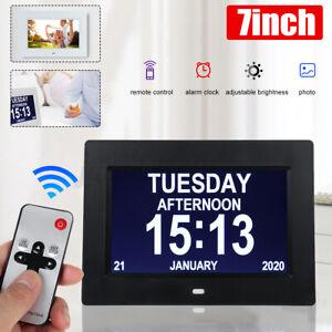 "7"" Extra Digital LED Demenz-Tagesuhr, Gedächtnisverlust Digitalkalender-Tagesuhr"