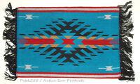 "Woven Placemat Table Mat Native American Geometric Southwestern 3x19"" design #2B"