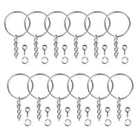 150pcs Key Ring with Chain Split Jump Rings with Screw Eye Pins DIY Keychain N_N