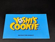 YOSHI'S COOKIE Instruction Manual Nintendo NES EXMT condition