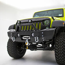 07-17 Jeep Wrangler JK Rock Crawler HD Front Bumper+Rivet+OE Fog Light Mount 4x4