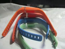 Four (4 )Wrist Bands For Fitbit Flex Band Replacement Large w/ Clasps See Pic
