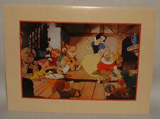 1994 Walt Disney SNOW WHITE litho print The Disney Store commemorative