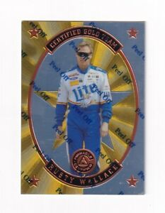 1997 Pinnacle CERTIFIED TEAM GOLD PARALLEL #6 Rusty Wallace SUPER SCARCE!