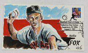 Nellie Fox Wild Horse Cachet Hand Painted Event Cover FDC 8/3/97 Baseball HOF