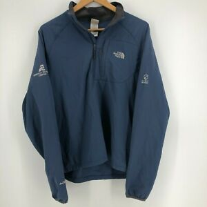 The North Face Jacket Men's Size S Blue 1/4 Zip Sweater Polyester Blend Apex