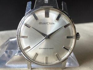 Vintage SEIKO Hand-Winding Watch/ Seiko Crown Cal.560 21J SS 1960s