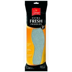 JUMP EXTRA FRESH INSOLES SHOE FLEECE BOOT CARE INSIDE PAD UNISEX 2 PER PACK