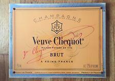 Veuve Clicquot Brut Champagne French France FRA Vintage Poster Framed Steel Sign