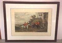 "Antique C R Stock Fox Hunt Engraving ""Return from the Hunt"" 1883"