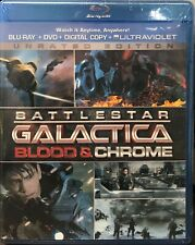 Battlestar Galactica: Blood & Chrome Unrated (Blu-ray, 2014, Digital) NEW SEALED