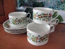 TOYS FOR TOTS Marine Foundation Cups and Saucers ~ Four