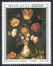 MONACO 1973 Mostra Floreale/Fiori/Piante/NATURA/arte/DIPINTI 1 V (n38584)