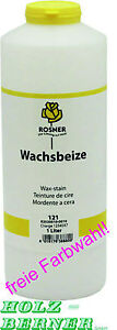 Rosner Wachsbeize Beize 1 Liter - freie Farbwahl - Wachs Nadelholz Fichte